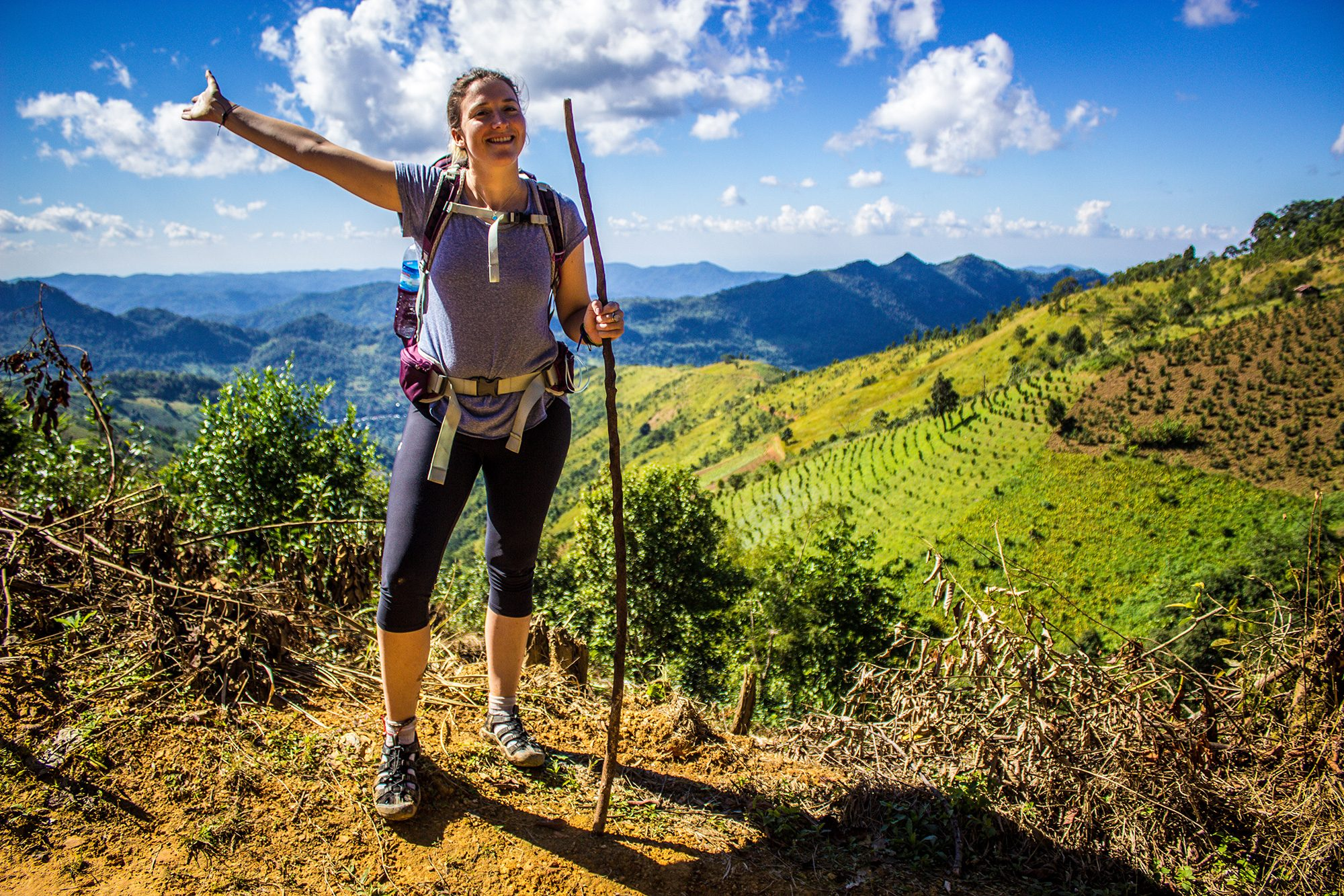 Ruth on our 3 day hike from Kalaw