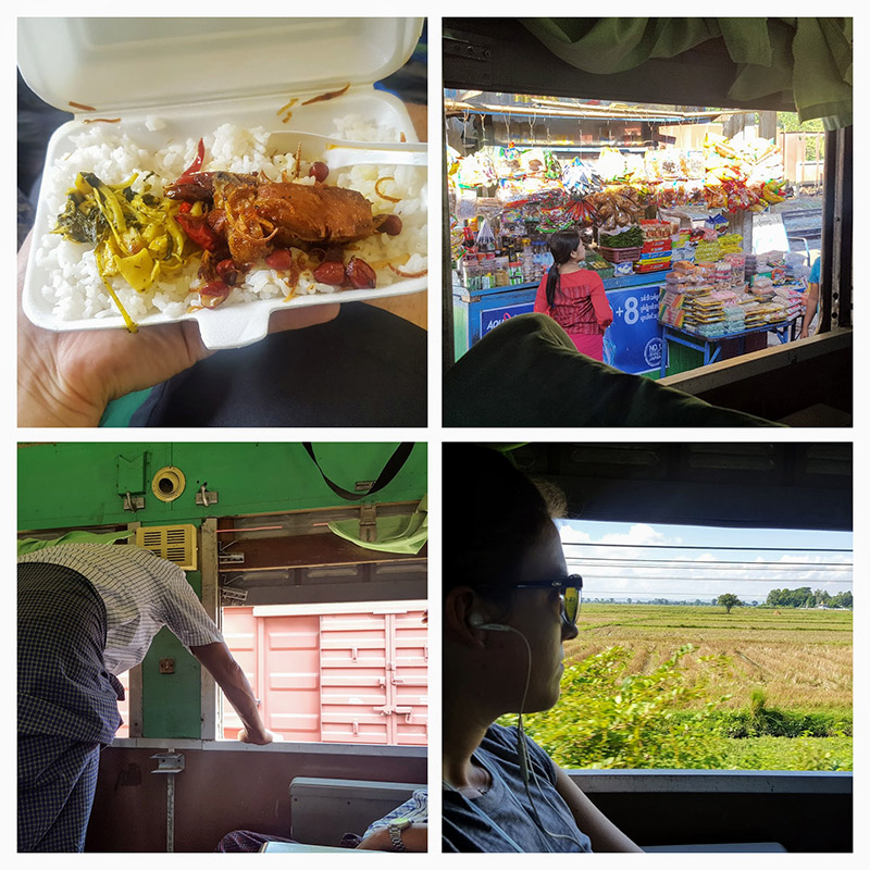 Yangon Thazi Train Collage