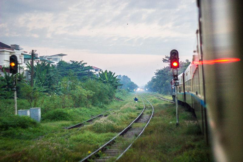 Leaving Yangon By Train