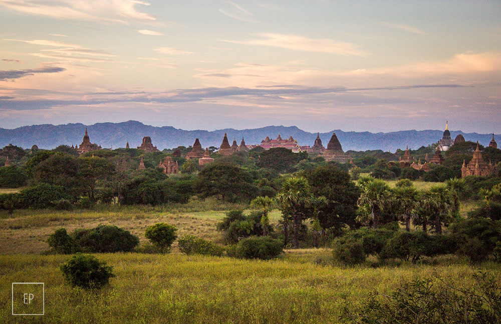 Bagan Temples Sunset